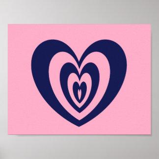 poster impresso coração