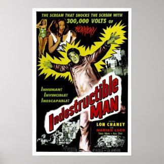 Poster indestrutível do homem