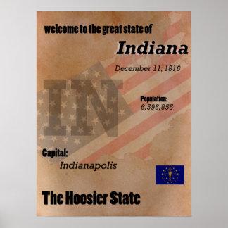 Poster Indiana o clássico do estado do Hoosier