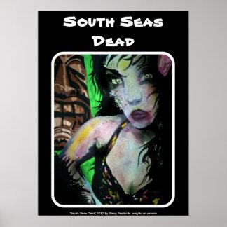 """""""Poster inoperante do zombi dos mares sul"""" Pôster"""