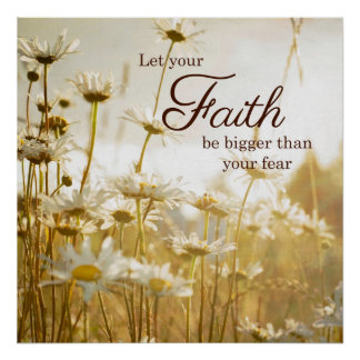 Poster inspirado das citações da fé - fotografia