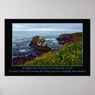 Poster inspirado do impressão da paisagem do