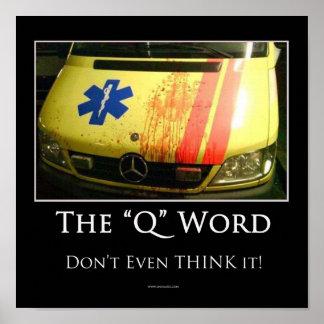 Poster inspirador da palavra de Q