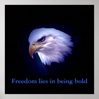 Poster inspirador do azul dos olhos de Eagle da