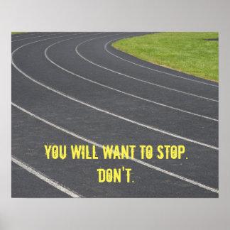 Poster inspirador dos esportes! Aperfeiçoe para os Pôster