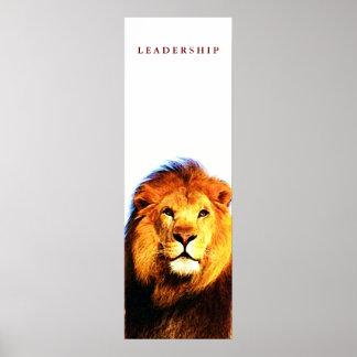 Poster inspirador original do leão da liderança