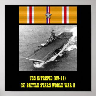POSTER INTRÉPIDO DE USS (CV-11)