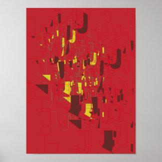 Poster J da arte abstracta