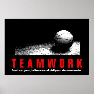 Póster Jogadores inspirados das citações do basquetebol