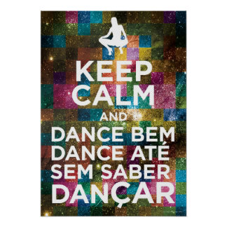 Poster keep calm and dance