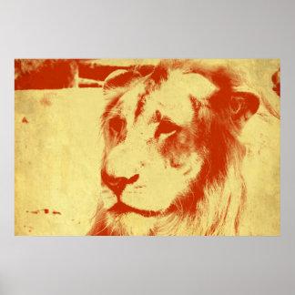 Poster Leão do Grunge