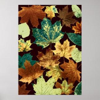 Poster Leaves áureas