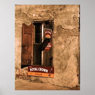 Póster Loja, parede e janela de Natchez