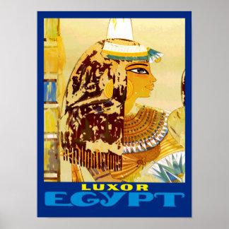 Poster Luxor Egipto das viagens vintage