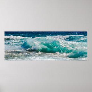 Poster Maré do oceano da praia da fotografia da natureza