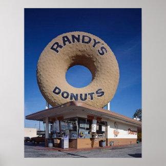 Poster Meio século de Califórnia das rosquinhas de Randy