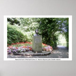 Poster memorável de Michael Collins, Dublin