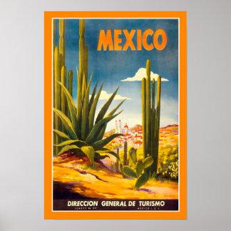 Poster México das viagens vintage Pôster