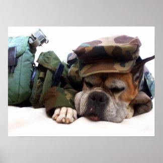Poster militar do cão do pugilista