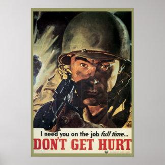 Poster militar do vintage de WWI e de WWII