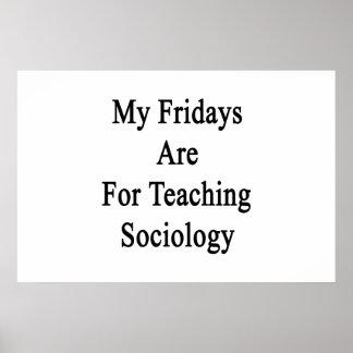 Póster Minhas sextas-feiras são para a Sociologia de