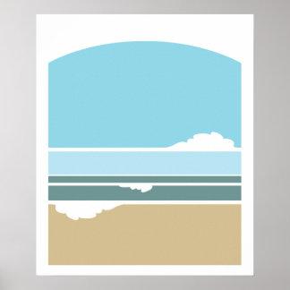 Poster minimalista do surf e do céu pôster