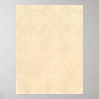 Póster Modelo de couro do pergaminho de Tan do Buckskin