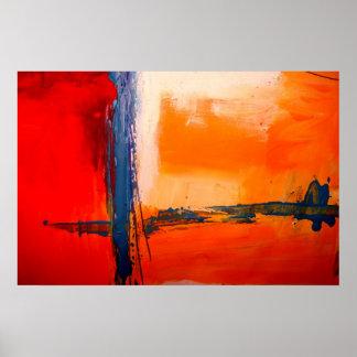 Poster moderno da arte abstracta