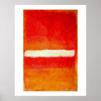 Poster moderno da arte abstracta - estilo de Rothk