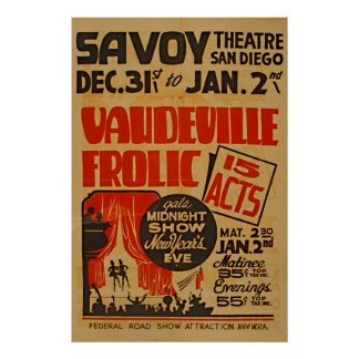 Poster Mostra da meia-noite WPA da gala dos atos do