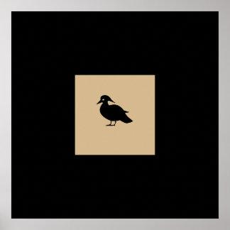 Poster muito decorativo do quadrado do pássaro