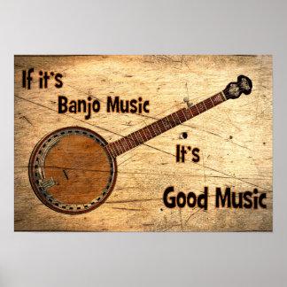 Póster Música do banjo