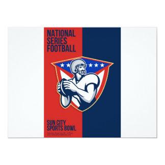 Poster nacional americano do futebol da série convites personalizado