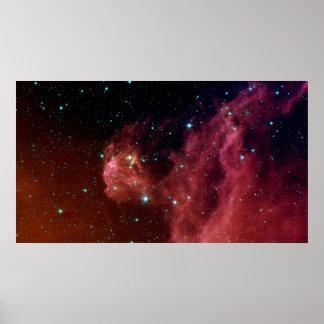 Poster NASA vermelha da nuvem do céu da poeira Sig07-006