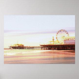 Poster Nascer do sol do cais de Santa Monica