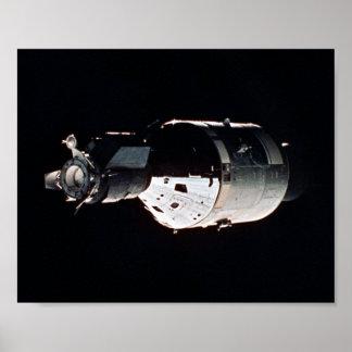 Poster Nave espacial de Apollo (projeto do teste de
