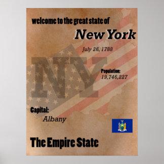 Póster New York o clássico do estado do império