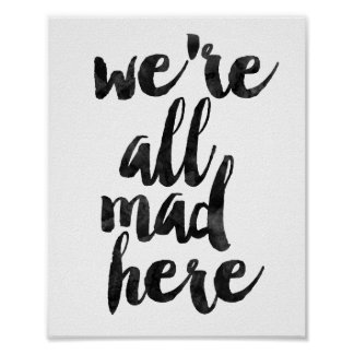 Póster Nós somos tudo loucos aqui