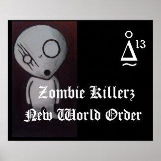 Poster novo do ordem mundial de Killers™ do zombi Pôster