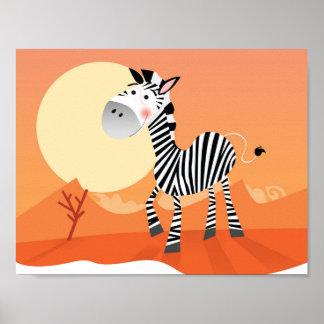 Poster novo dos miúdos na loja: com a zebra bonito pôster