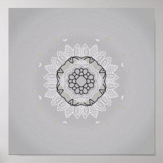 Poster novo na loja: com arte da mandala pôster