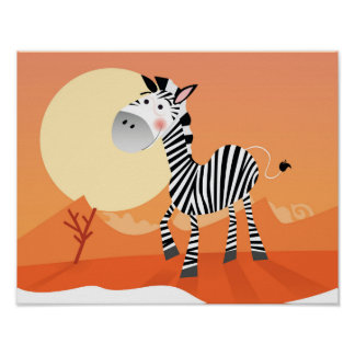 Poster novo na loja: com zebra de África Pôster