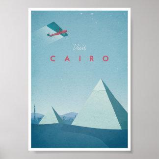 Poster o Cairo das viagens vintage