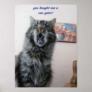 Poster O gatinho chocado ama pintar