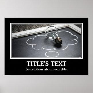 Póster O melhor personaliza a foto & o texto