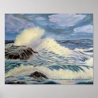 Poster O oceano - uma força da natureza
