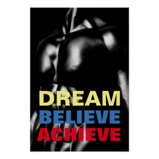 Poster O sonho acredita consegue o Bodybuilding