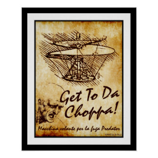 Póster Obtenha à Dinamarca Choppa - o helicóptero de