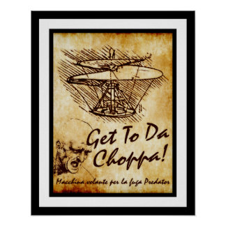 Poster Obtenha à Dinamarca Choppa - o helicóptero de