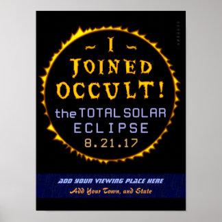 Póster Oculto engraçado eclipse solar do 21 de agosto de
